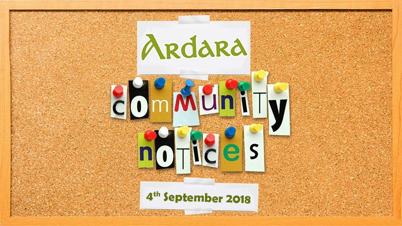 Community Notices 4th September 2018