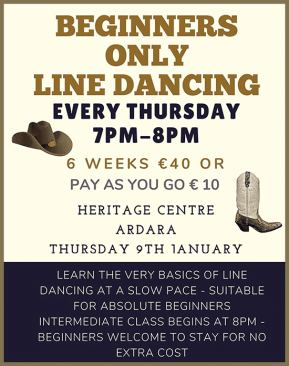 Beginners Line Dancing Classes 2020, Ardara