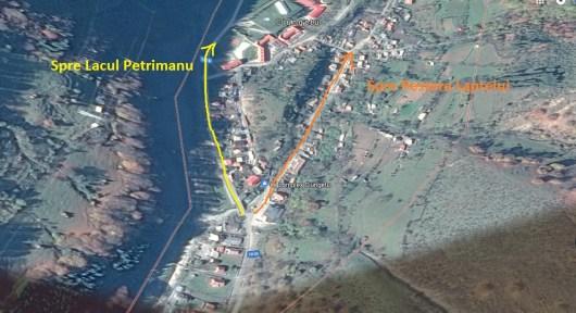 Harta - Lacul Petrimanu - Pestera Laptelui