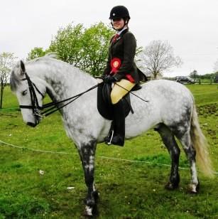 Prince Jefferson, rider Valerie Lee, winner of under 16 Ridden Connemara