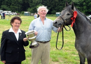 Ohill Silver Molly. Breda Horan and owner Tom Clancy