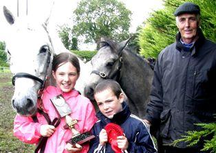 Glencarrig Heather with Rachel, Ronan & grandfather Paddy Walsh