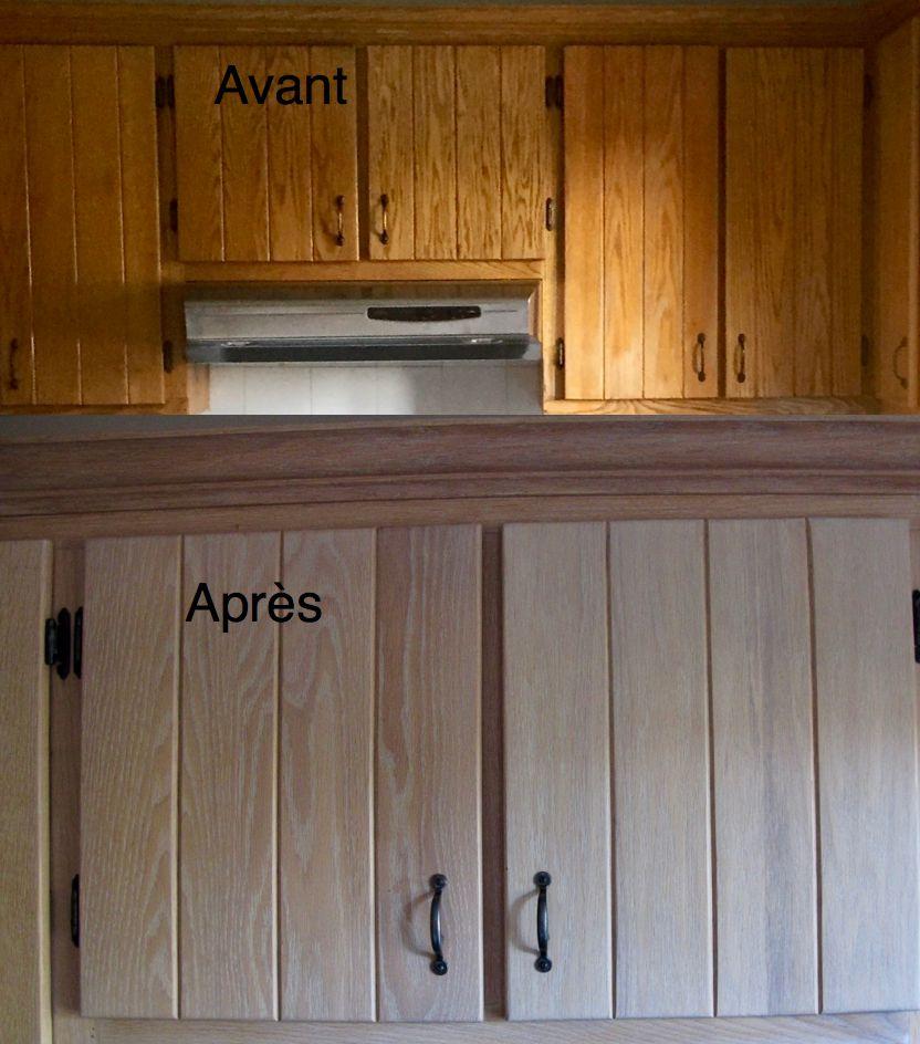 Restauration Darmoires De Cuisine En Chne Par La Boite Pin