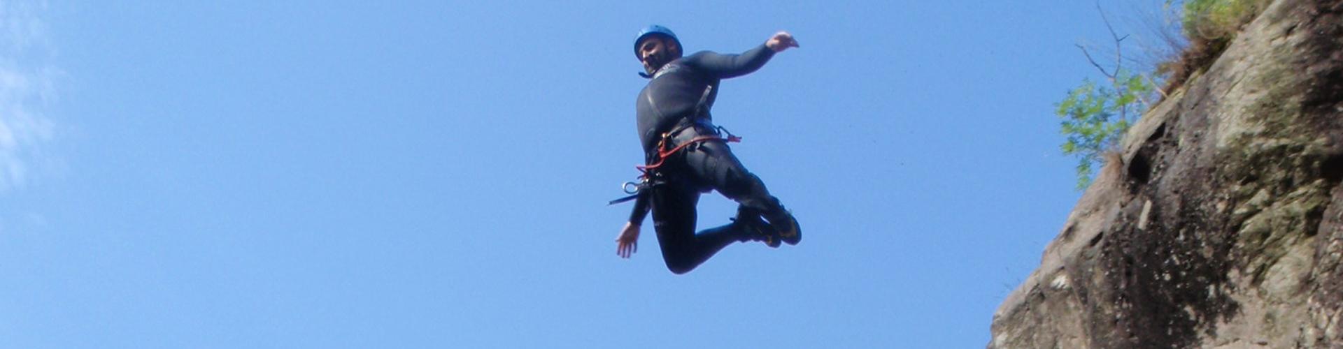 canyoning saut