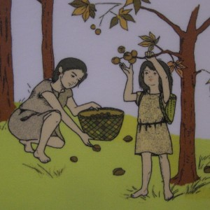 Paleolithic-women-gathering-chestnuts