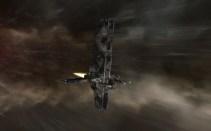 Buzzard Covert Ops Ship in Warp