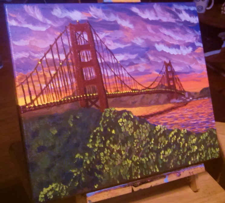 Painting of San Francisco Bay