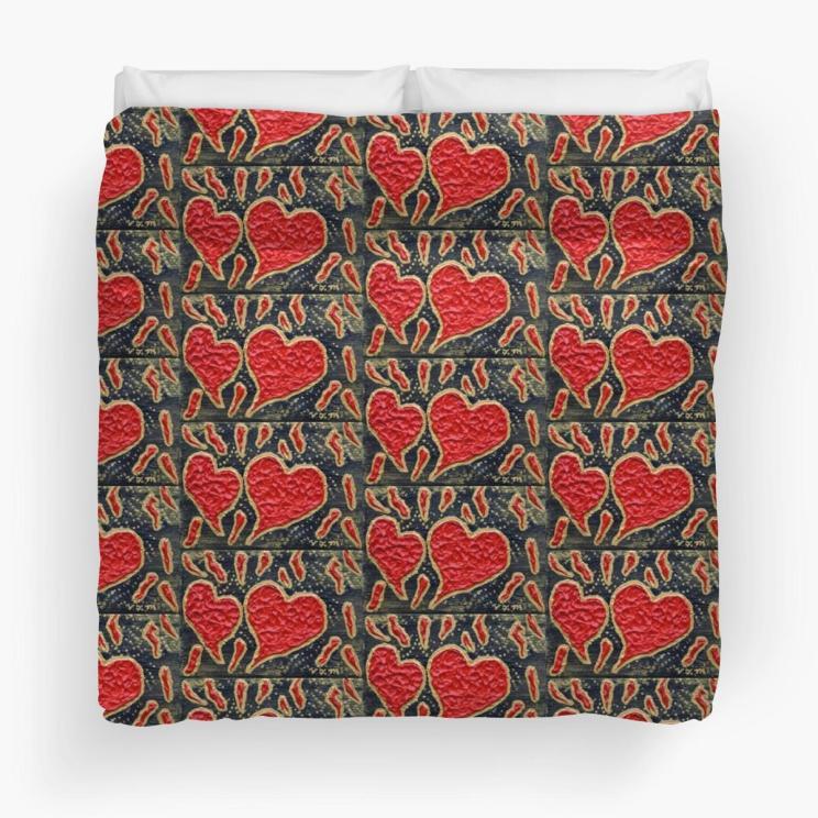 redbubble duvet hearts