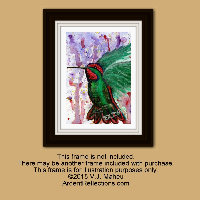 Birds watercolor,bird watercolors,puddle paints,garden art,abstract bird art,watercolor paintings,bird watercolor,colorful bird, Item # WP2 hummingbird art, hummingbird painting, original painting, framed painting, framed art