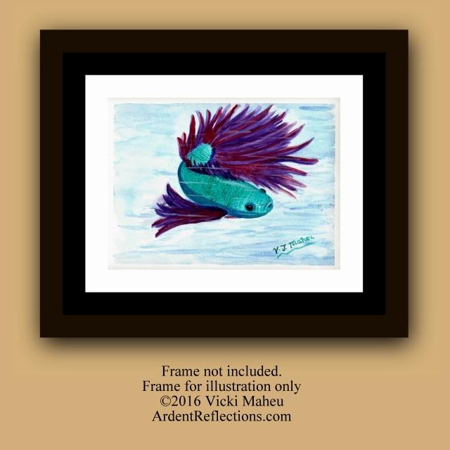 Betta Fish, by V.J. Maheu