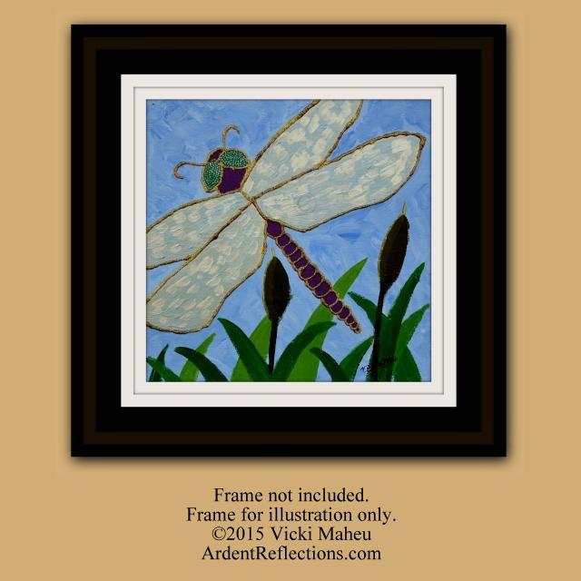 Shimmery Dragonfly, by V.J. Maheu