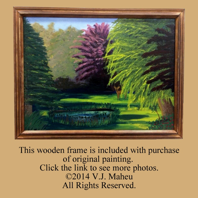 Framed Wall Art,deer painting,animal painting,landscape painting,tree painting,forest painting,wall decor,pond painting,original, Item #VBO1 trending animal art, forest art, stag art, large painting