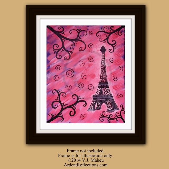 Eiffel Tower, Paris architecture,Eiffel painting,Paris room decor,Eiffel wall decor,Eiffel decoration,Eiffel wall art,Paris art, Item #EPP-1 eiffeltower wall art, Paris decor, Eiffel Tower Print, Eiffel tower art, pink decor