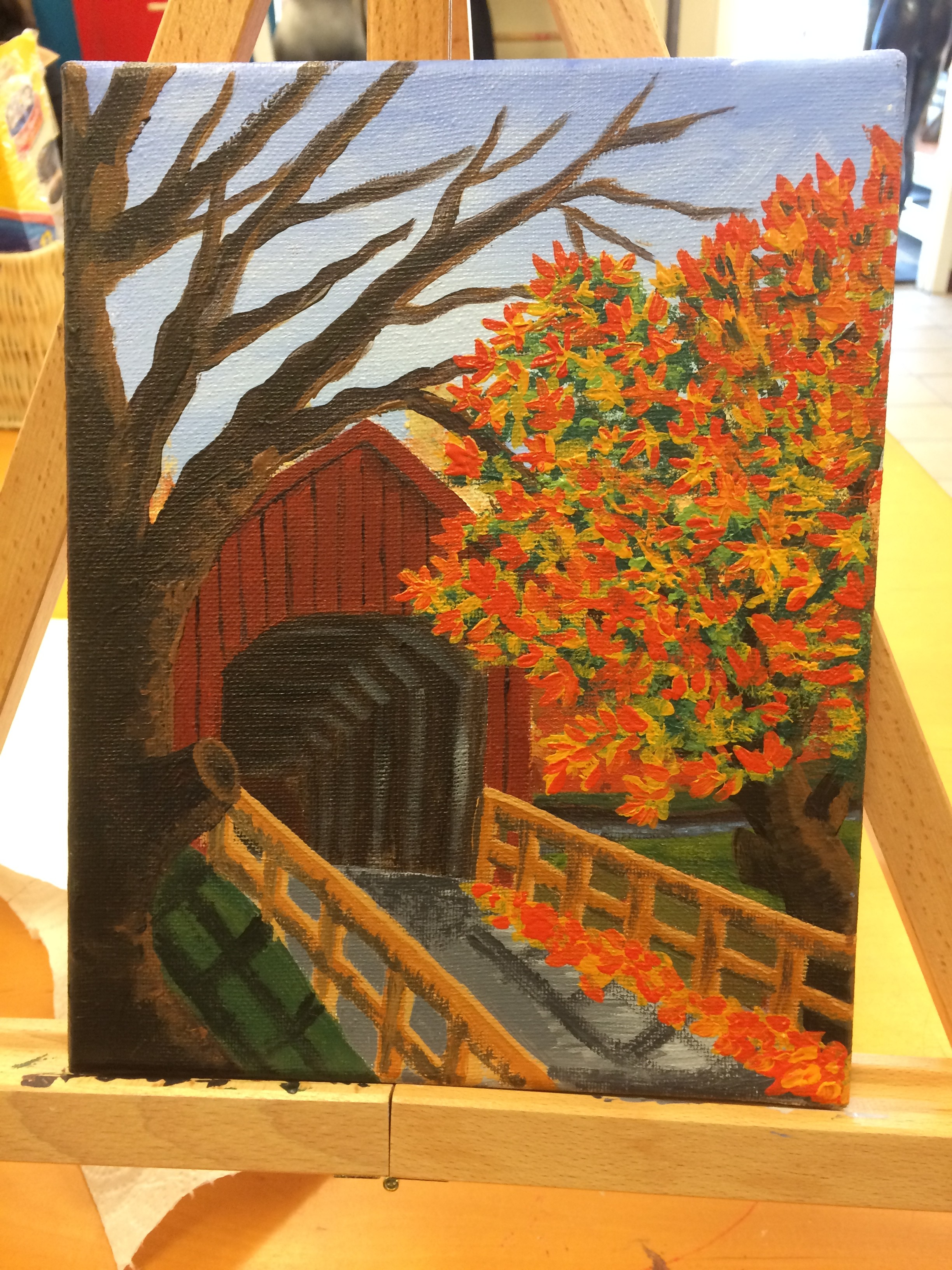 Fall painting in progress