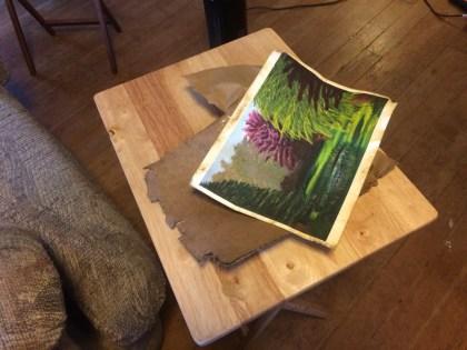 damaged fine art print