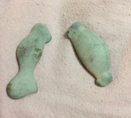 Two rocks I'll be turning into sea creatures