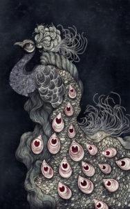 Sara Blake Peacock Illustration