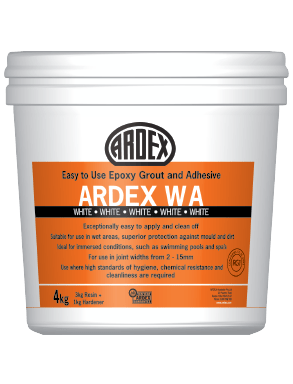 ardex wa grout adhesive easy to use