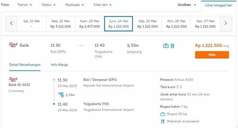 tiket batik air ke yogyakarta international airport