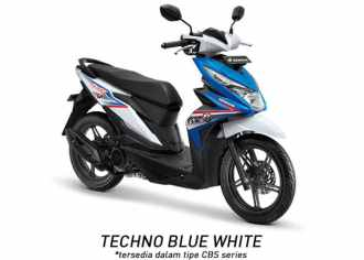 Honda BeAT 2018 CBS Techno Blue White...