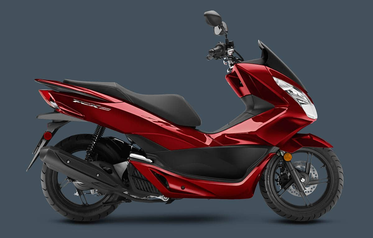 honda pcx luxury red