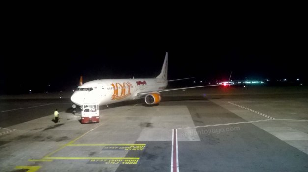 Boeing 737-9GP ER WL 100th Livery pushback...