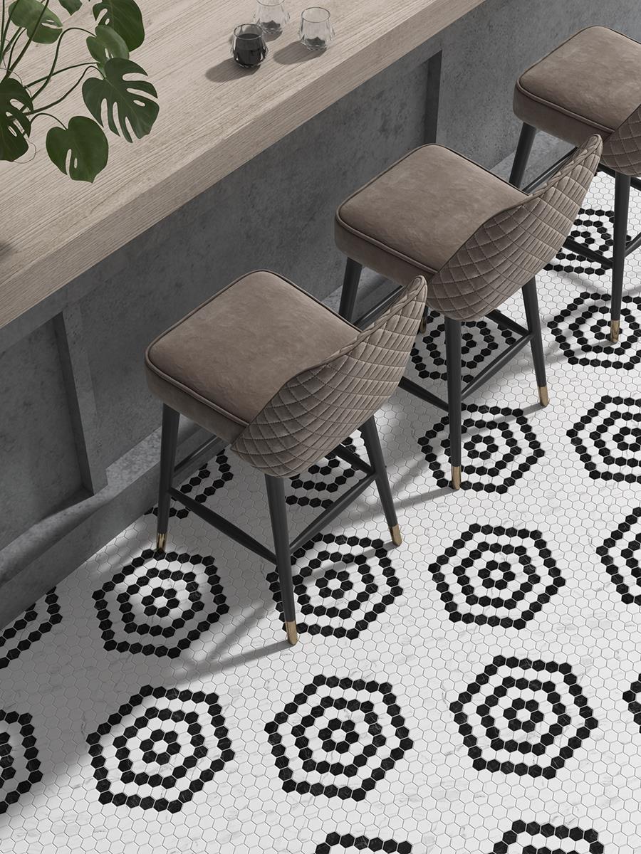render-3d-de-un-pavimento-de-mosaico-ceramico