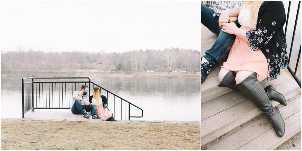 Rustic Washington Crossing State Park Engagement Session captured by Ardita Kola Photography