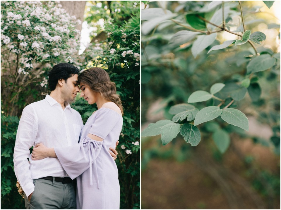 NYC Engagement Session at Fort Tryon Park The Cloisters Flower Crown