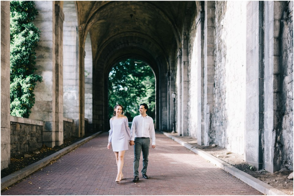 NYC Engagement Session at Fort Tryon Park