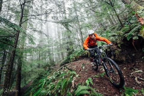 Sarah Leishman back on her bike at home