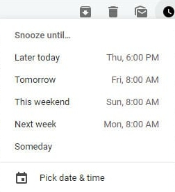 snooze email