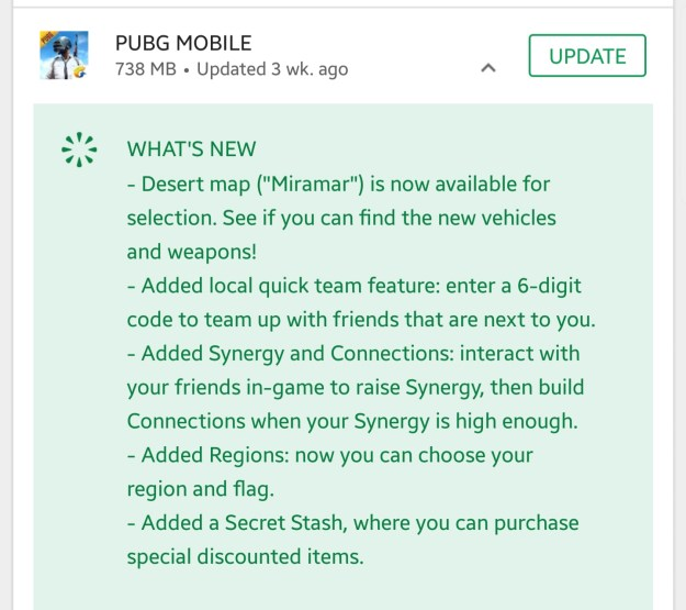 Whats new in PUBG Mobile 0.5 apk