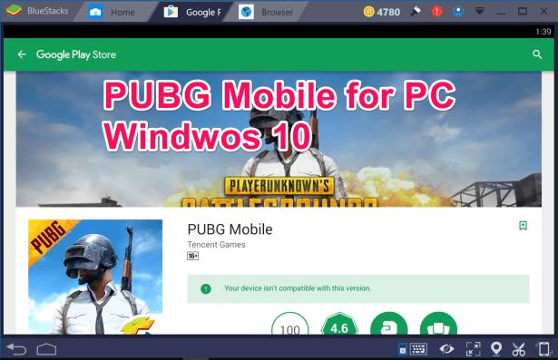 PUBG Mobile for PC Windows 10