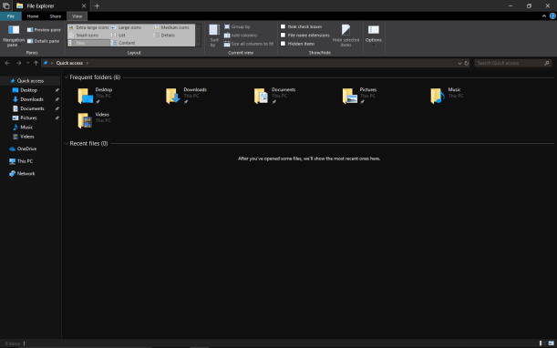 enable file explorer dark theme windows 10