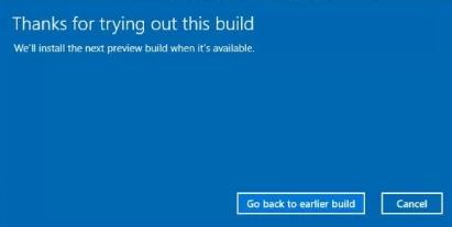 remove current build windows 10
