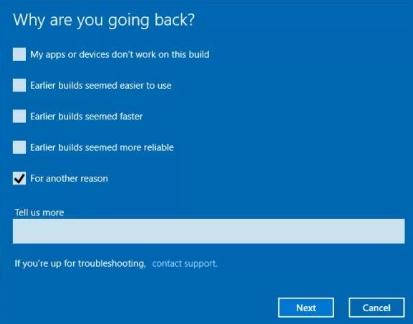 rollback windows update