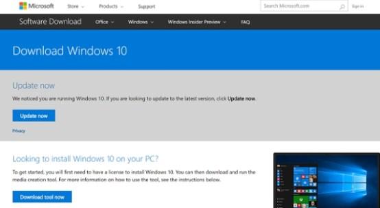 windows 10 update assistant download