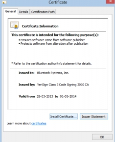 bluestacks certificate