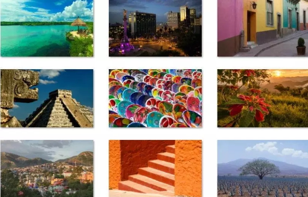colors of mexico theme