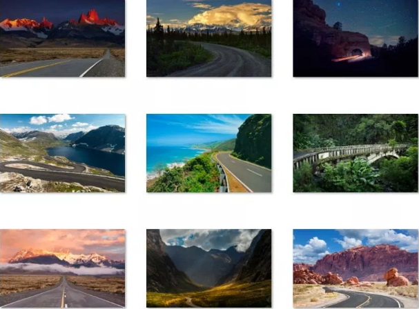 hitting the road windows 10 theme