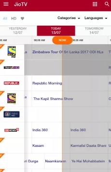 jio tv pc interface