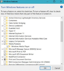 media features pack win 10