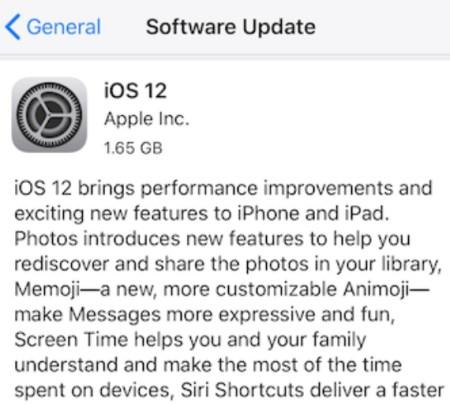 ios 12 ota update
