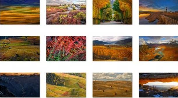 bing fall colors theme win 10