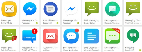 verify search result of android apps
