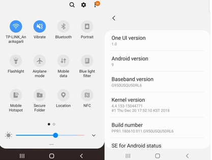 android pie update for samsung galaxy