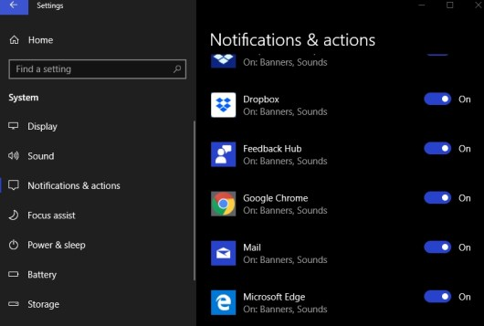 google chrome notifications settings windows 10