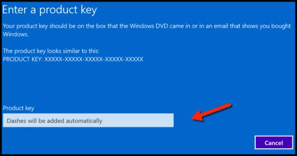 product key windows 10