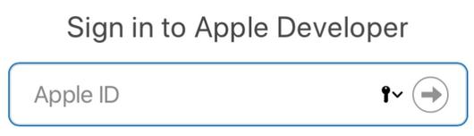 apple developer id account login